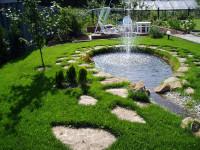 Фонтан в садовом пруду — проектируем и создаем водный оазис + 69 фото