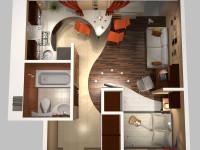 Интерьер однокомнатной квартиры — 71 фото красивых и популярных решений увеличения пространства