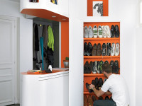 Полки для обуви в интерьере — фото идей для экономии пространства