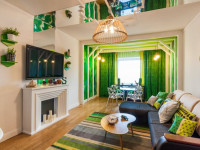 Сочетание зеленого цвета в интерьере — сложные комбинации самых сочных оттенков + 88 фото