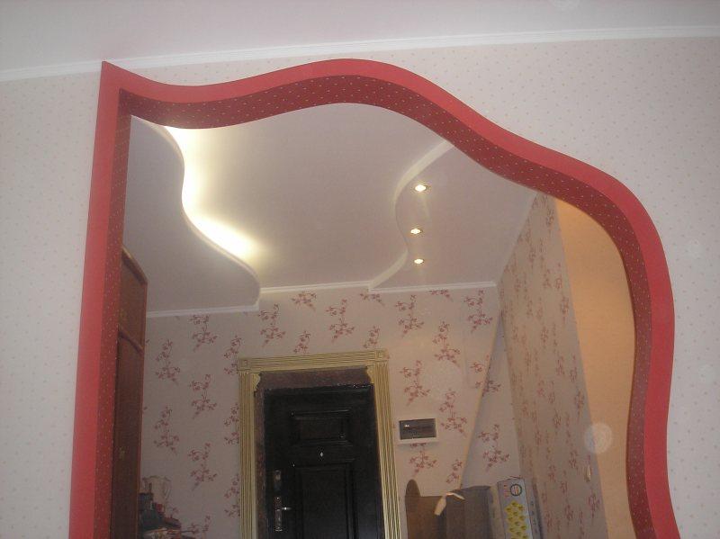 Фигурная арка из гипсокартона своими руками