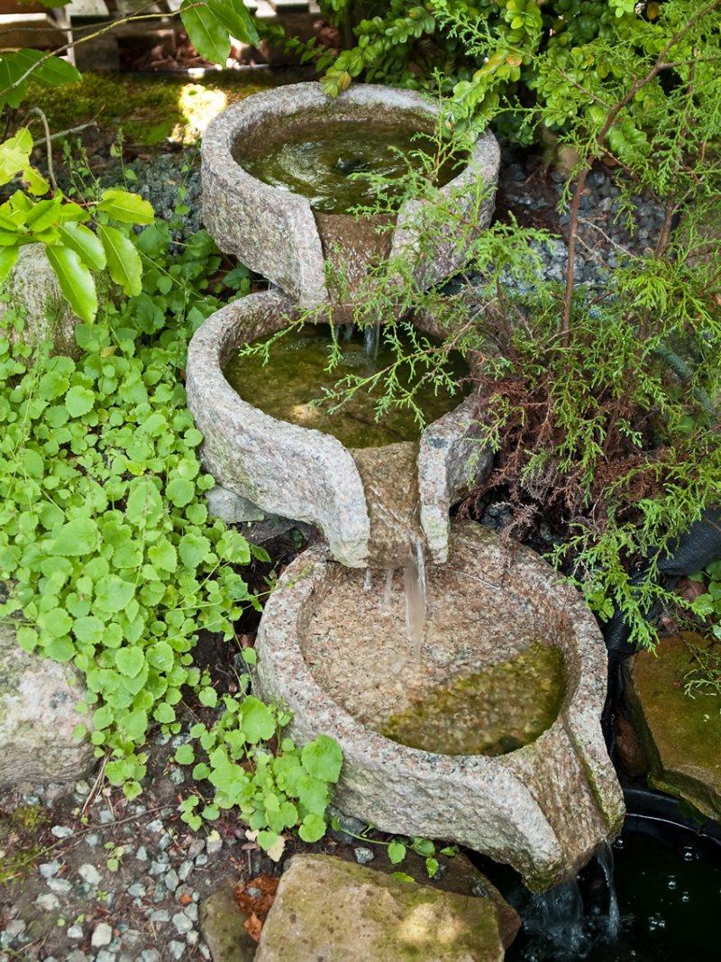 Небольшие фонтаны в саду своими руками