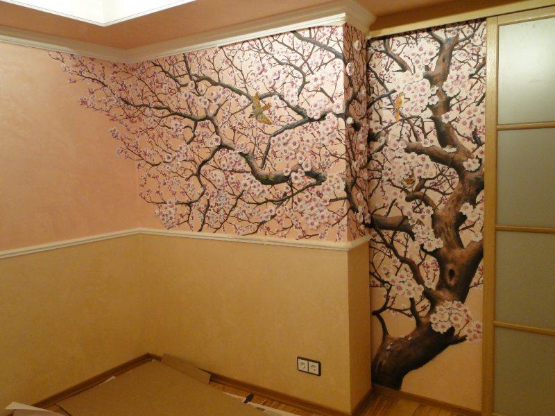 Сколько стоит рисунок на стене в квартире