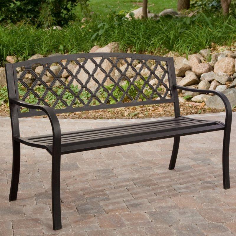 Садовые скамейки фото из металла
