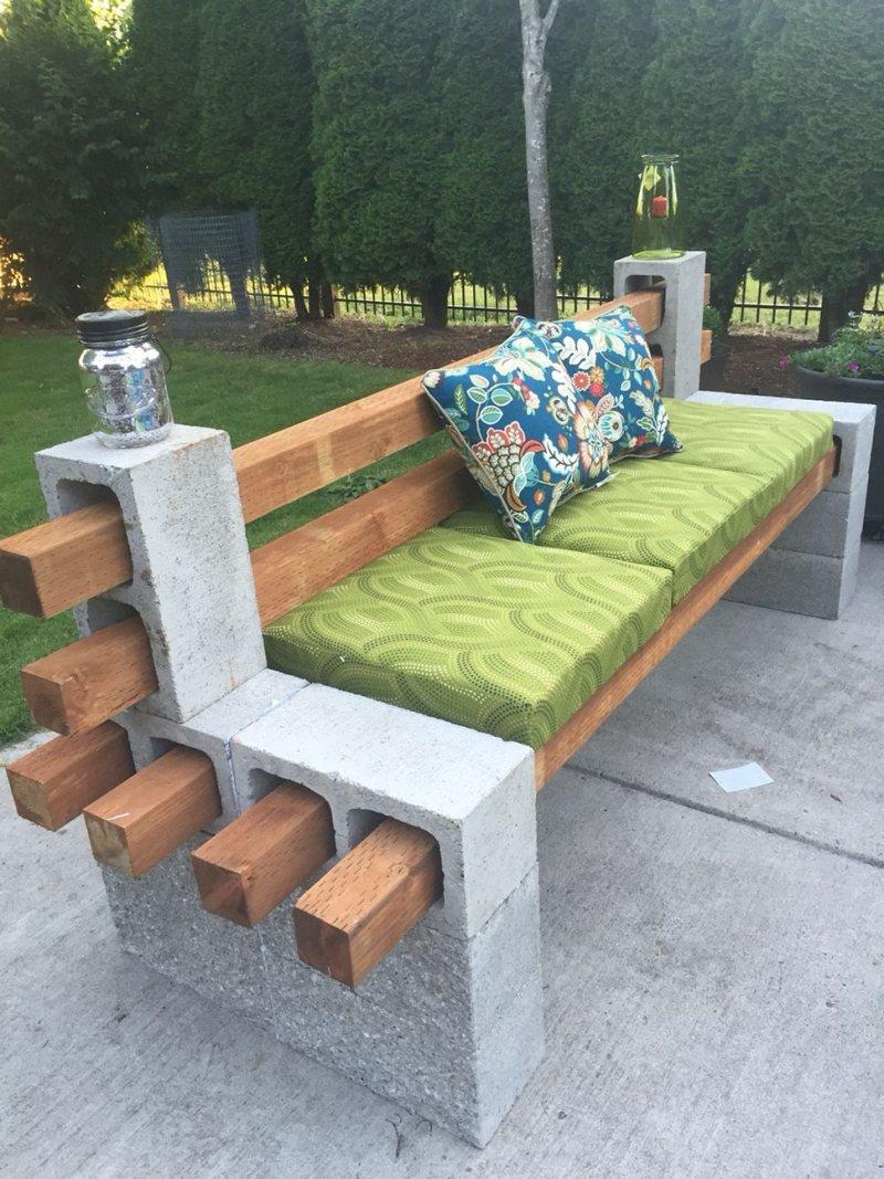 Садовые скамейки из подручных материалов своими руками