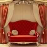 Krasnyiy divan v interere 28