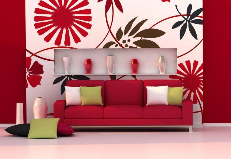 Krasnyiy divan v interere 39 1
