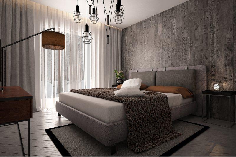 Серый ламинат на стене в интерьере фото