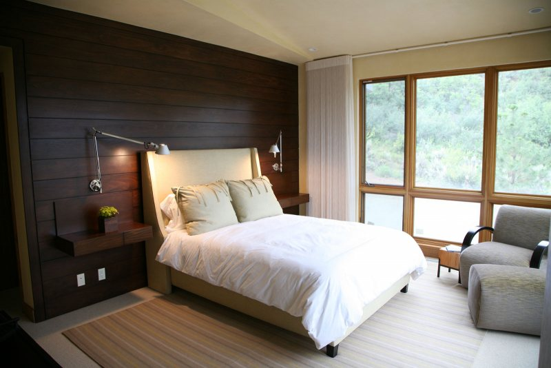 Дизайн ламината в спальне