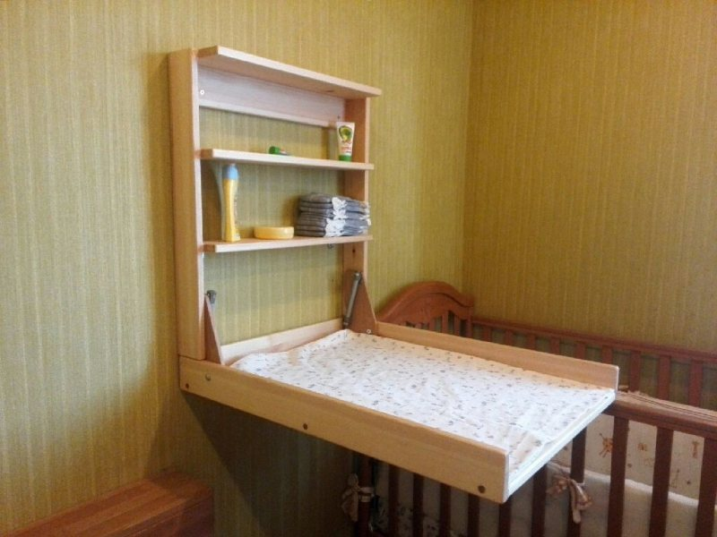 Pelenalnyiy stolik v detskoy 11