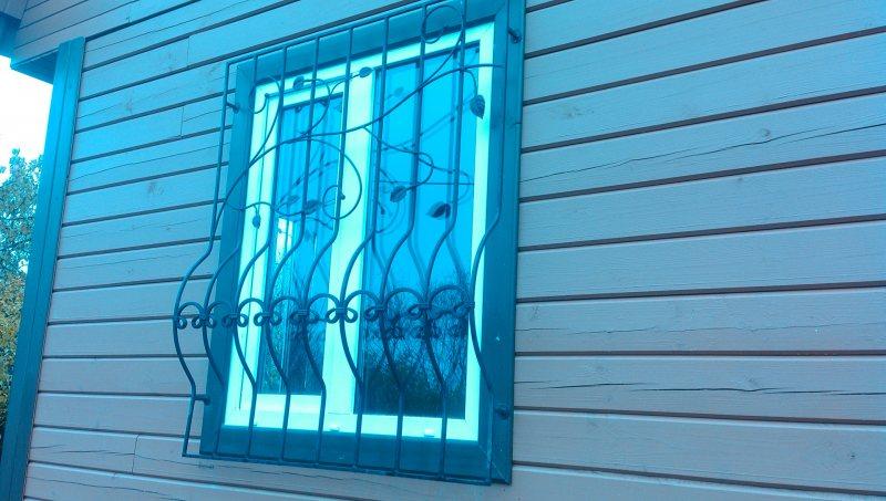 Образцы решеток на окна фото