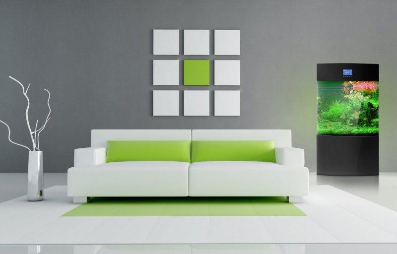 Sochetanie zelenogo tsveta v interere 1