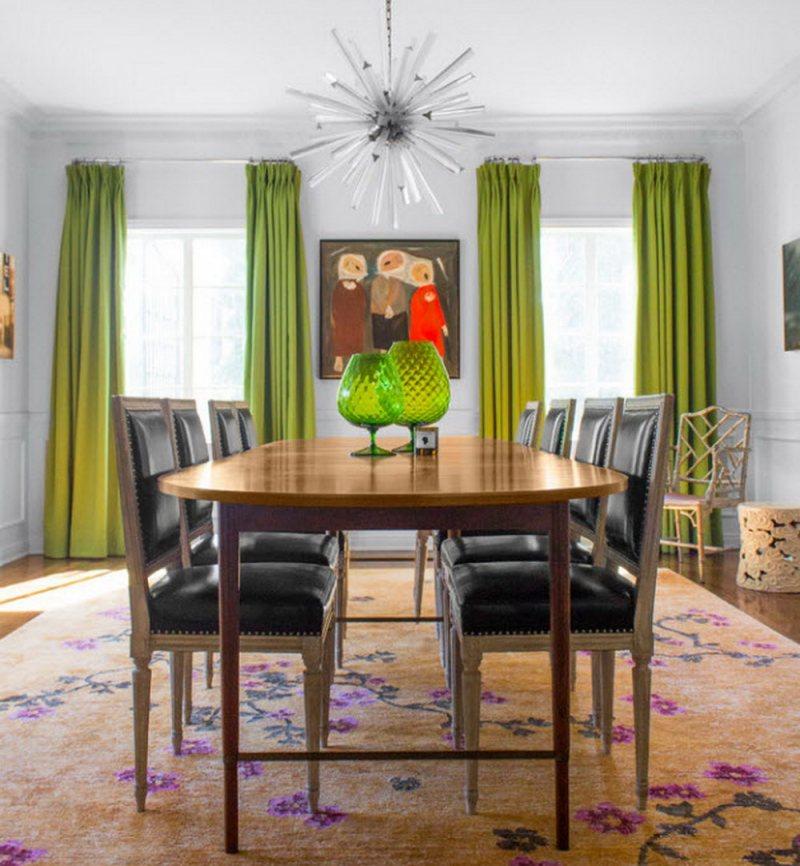 Sochetanie zelenogo tsveta v interere 105