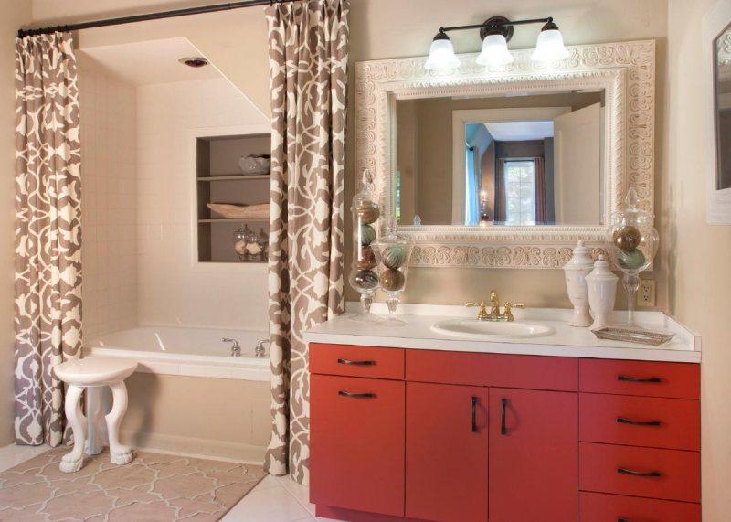 Дизайн тумбы под раковину в ванную
