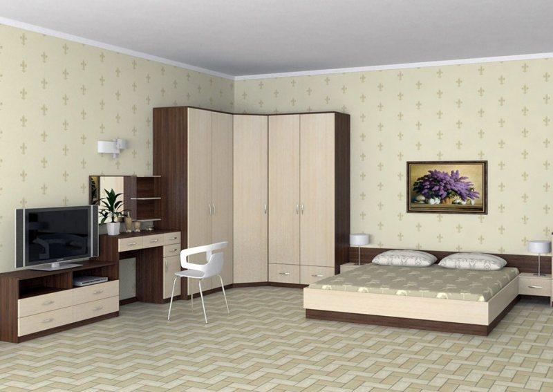 Uglovoy shkaf v interere spalni 21