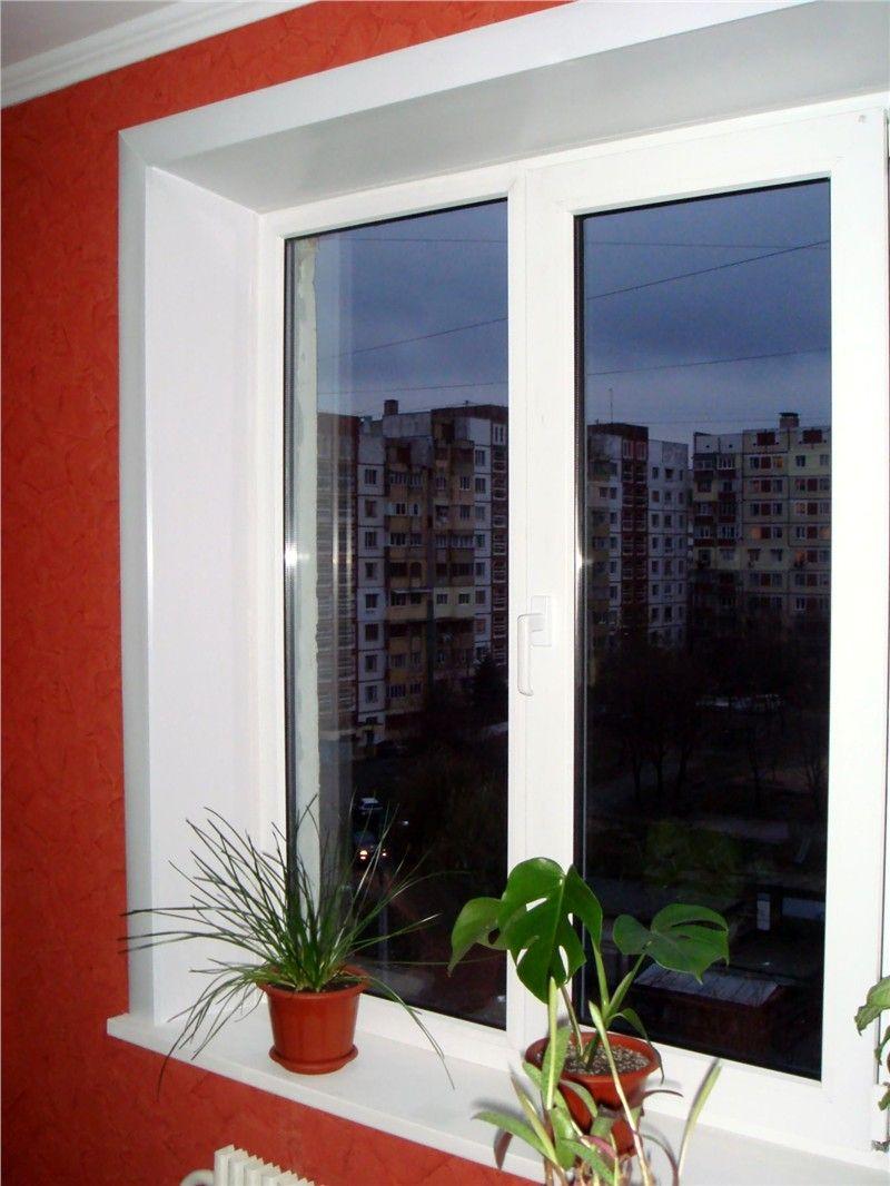 Ustanovka plastikovyih otkosov na okna 2