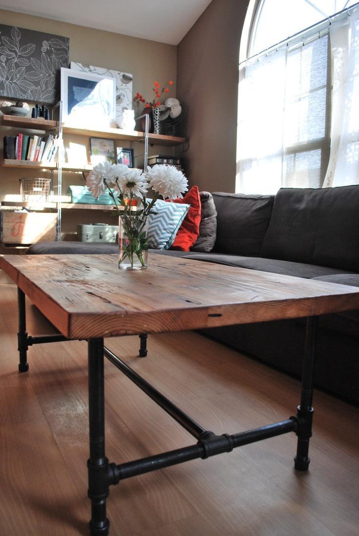 Деревянный стол в стиле лофт своими руками 85