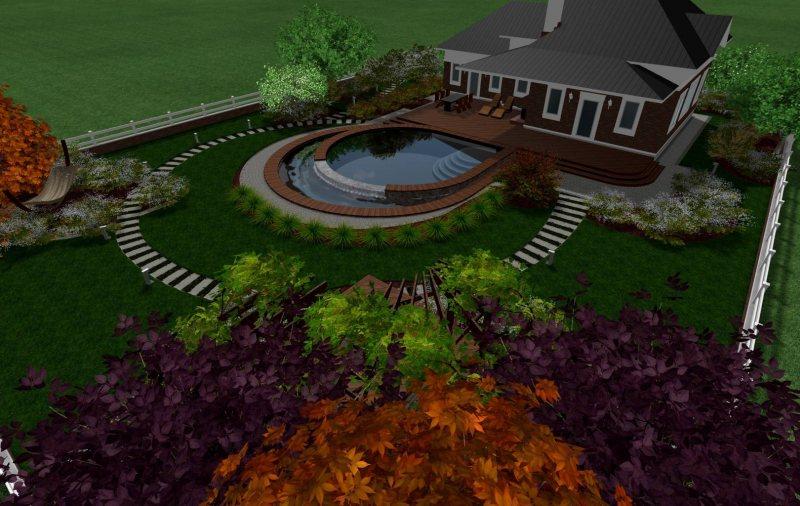 Фото ландшафтный дизайн дачного участка 10 соток своими руками схемы
